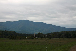 The Blue Ridge Parkway from Nelson County - October 3, 2011