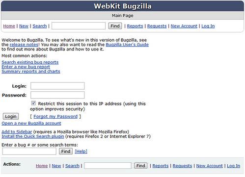 Webkit Bugzilla