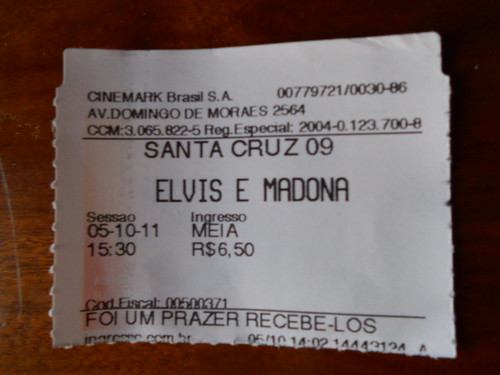 Ingresso - Elvis & Madona - Cinemark