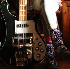 Little Bootsy (johnnymack73) Tags: boots bass docs drmartens rickenbacker dms 4001