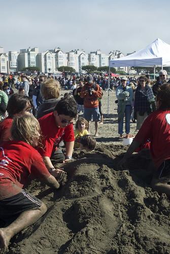 Ocean Beach sandcastle contest