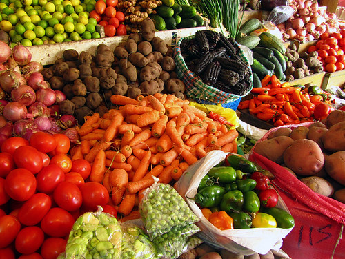 Verduras at an Ollantaytambo mercado