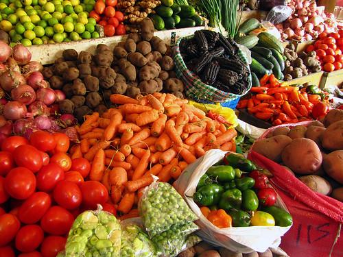 Verduras at an Ollantaytambo mercado
