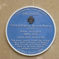 Photo of William Manley blue plaque