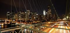 Brooklyn Bridge/ New York Skyline (RJJPhotography) Tags: nyc newyorkcity bridge vacation panorama usa newyork architecture brooklyn night landscape manhattan brooklynbridge