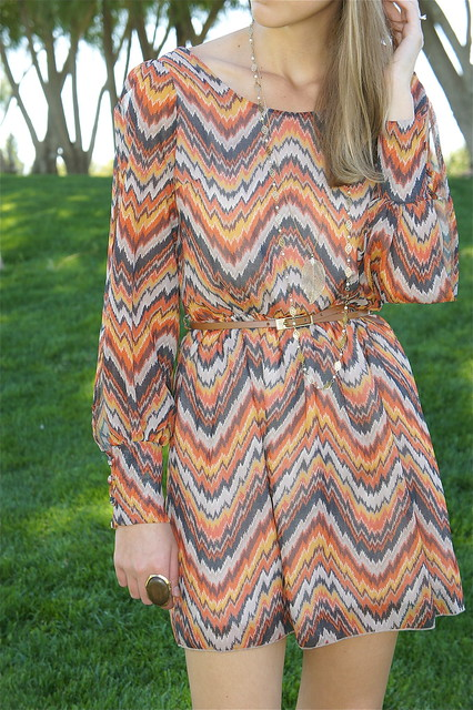 Zigzag pattern dress