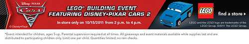 LEGO Cars 2 Toys'R'Us Building Event