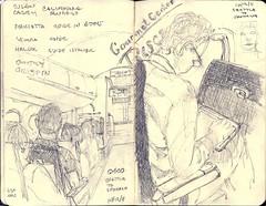 Seattle to Spokane Again (cougkidd) Tags: seattle moleskine pencil paper airplane sketch spokane