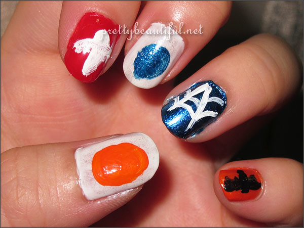 Halloween nail art tutorial base color sketch