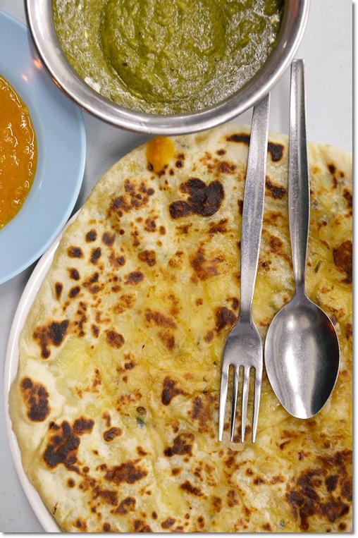 Potato Pratha, Palak Paneer