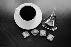 B&W ♡ (Muneerah Ibrahim) Tags: morning bw love coffee chocolate khalifa lovely choco burj