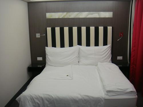 Vista de la cama