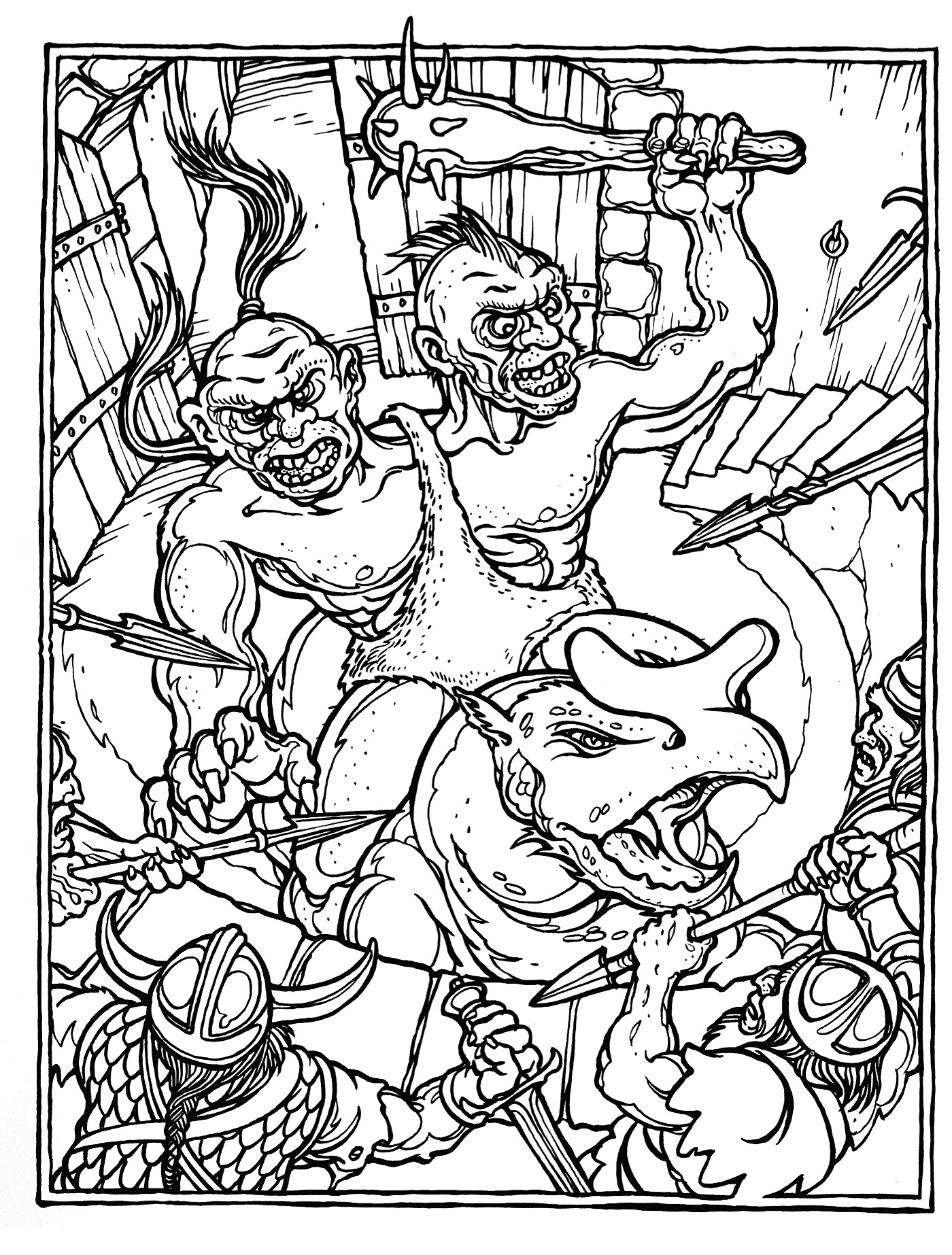 dungeons and dragons coloring pages - photo #5