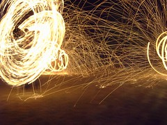 Fire Poi (Mark K Quinn) Tags: longexposure fire poi