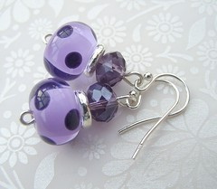 Dotty for Purple Spots (2) (Glittering Prize - Trudi) Tags: glass beads purple crystal handmade jewellery sparkle spots earrings lampwork dotty polkas