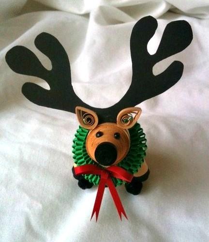 Quilled reindeer