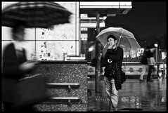 all I see is gray [explore] (MdKiStLeR) Tags: street urban bw motion blur rain japan photography tokyo movement shinjuku asia candid rainy umbrellas mdkistler alliseeisgray