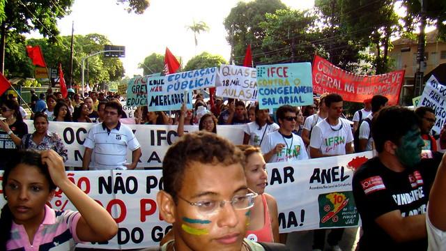 Ato Público do Sinasefe em Fortaleza (Foto: Isaac Ribeiro)