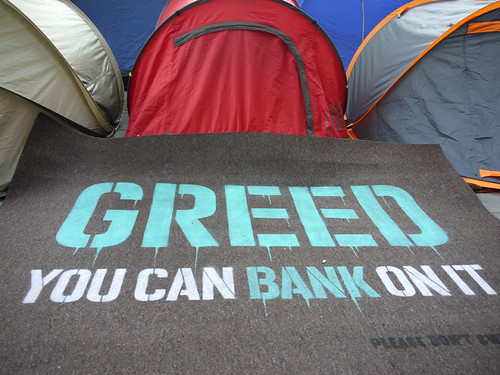 Occupy London protest by Alan Denney