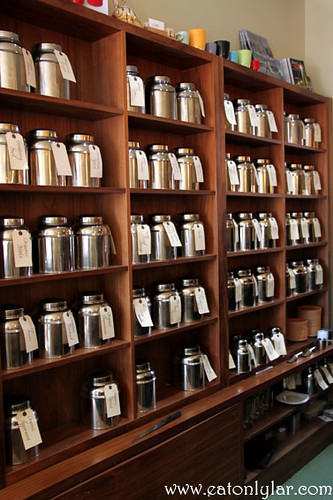 Variety of teas, Waterloo Gardens Teahouse