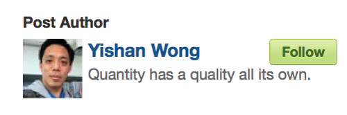 Post Author: Yishan Wong: Quantity has a quality all its own