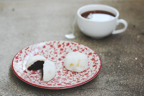 chestnut mochi & marron glace tea