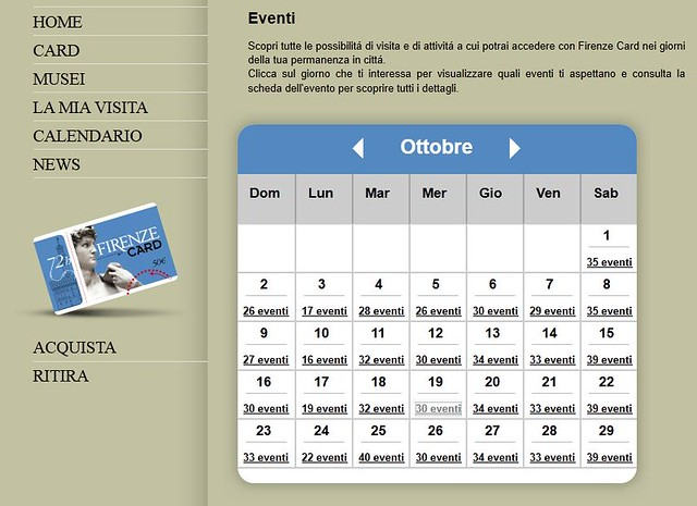 firenze card eventos