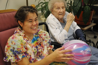 Nursing home clown visit