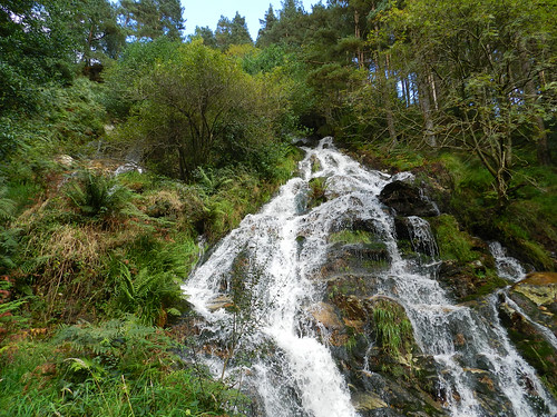 At Ballinafunshoge waterfall (Glenmalure, Co. Wicklow)