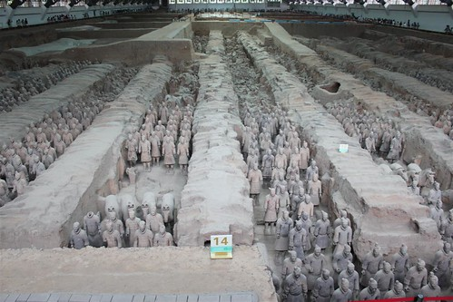 This is Pit No. 1, the largest pit in a rectangular shape, is one of the famous attraction site, Museum of Qin Terra-cotta Warriors and Horses in Xi'an