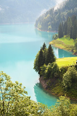 Lake Sauris II [Lateis - 13 August 2011] (Doc. Ing.) Tags: italy mist lake mountains nature water carnia fvg ud friuli 2011 friuliveneziagiulia sauris nordest explored zahre lateis