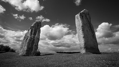 Rules of attraction - not Stonehenge; but Avebury (alwyncooper) Tags: blackandwhite monochrome stone mono 5d  canonef1740mmf4lusm avebury stonecircle    canon1740f4l  canonef1740mmf40lusm  alwyncooper