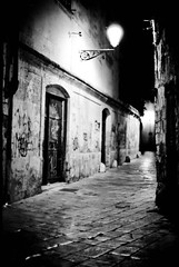 dark alley urban decay (Tunguska RdM) Tags: light shadow urban white black dark alley pentax decay mx development ilford fp4 ilfosol mygearandme mygearandmepremium mygearandmebronze mygearandmesilver blinkagain rememberthatmomentlevel1