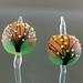 Earring Pair : Autumn tree