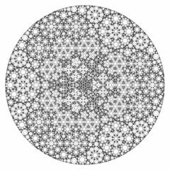 Progressive Recursive Apollonian Gasket (fdecomite) Tags: circle packing math fractal gasket descartes povray tangent recursivity imagej tangency apollonian apollonius