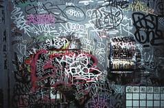 fish (Tiger.Milk.) Tags: film bathroom graffiti stall spraypaint drips markers krink