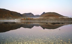 Ready for a new day (leifolsen) Tags: county morning autumn sky mist color water norway landscape norge scenery purple fjord dis nordnorge troms landskap northernnorway hstmorgen senjaisland islandofsenja