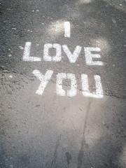 declaration outside arnolfini (the incredible how (intermitten.t)) Tags: tarmac bristol stencil grafitti pavement iloveyou asphalt arnolfini 22606 02092011