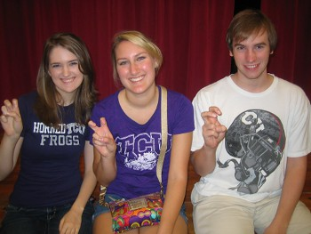 TCU Undergrads (left to right) Katie Russell, Katelynn Badger and Brandon Fawks (Rick Settle not pictured)