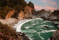 (marty l) Tags: california statepark sunset waterfall bigsur mcwayfalls mcweyfalls julespfeifferburns