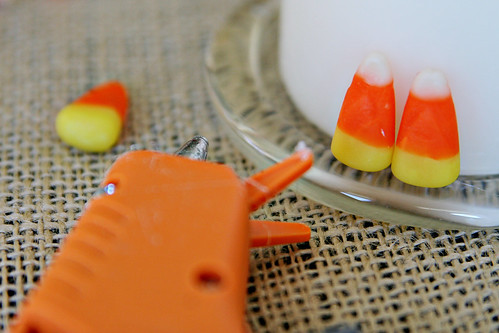 Candy Corn Candle 4