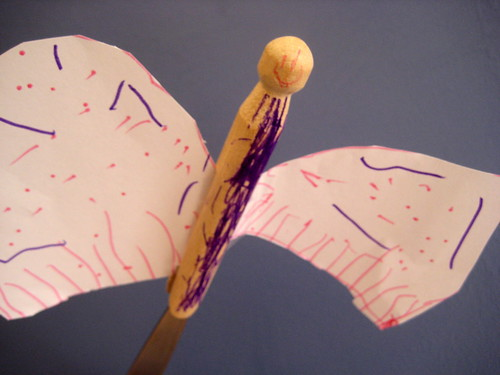 how to make a peg doll butterfly