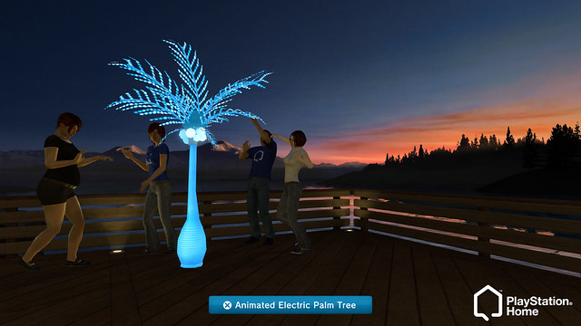 Community Reward: Animated Electric Palm Tree