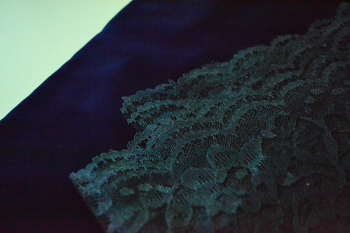 blue velvet with blue lace?