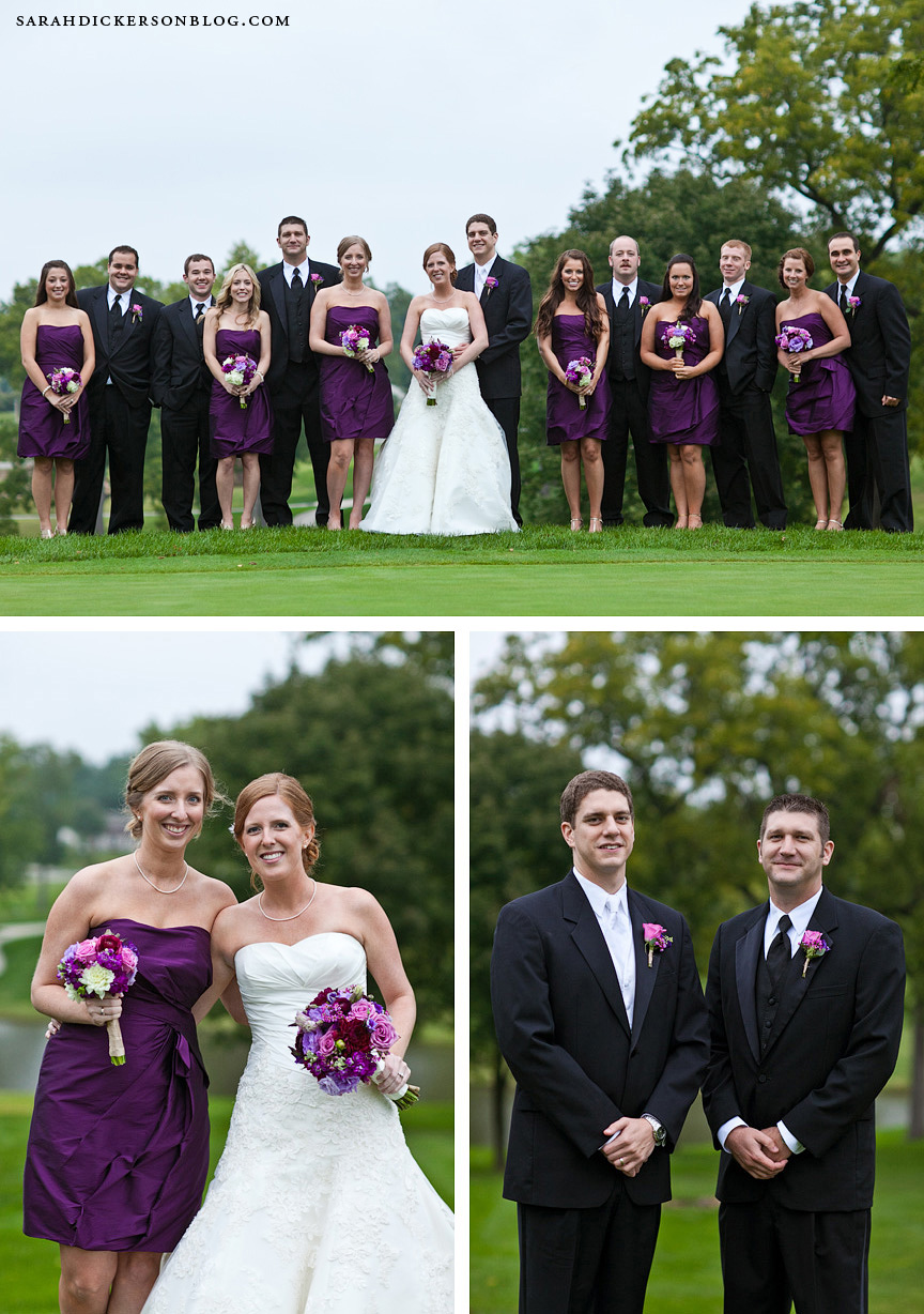St Joseph Country Club wedding reception photographers