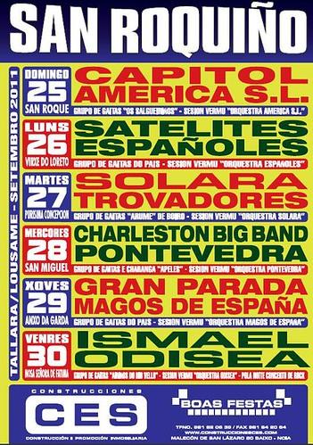 Lousame 2011 - Festas do San Roquiño en Tállara - cartel