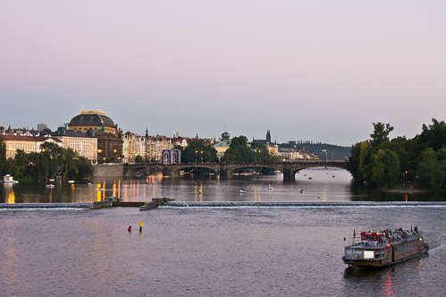 Vltava River at Twilight