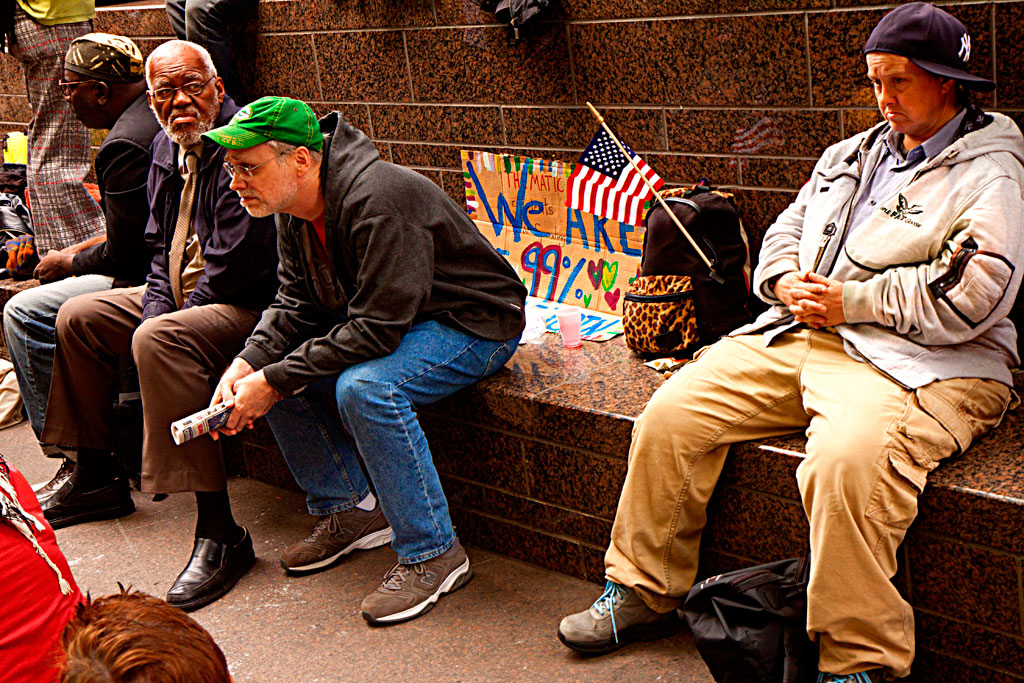 Four-middle-aged-people-at-Wall-Street-Protest--Manhattan