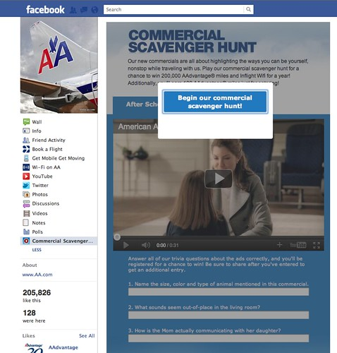 American Airlines Facebook Contest