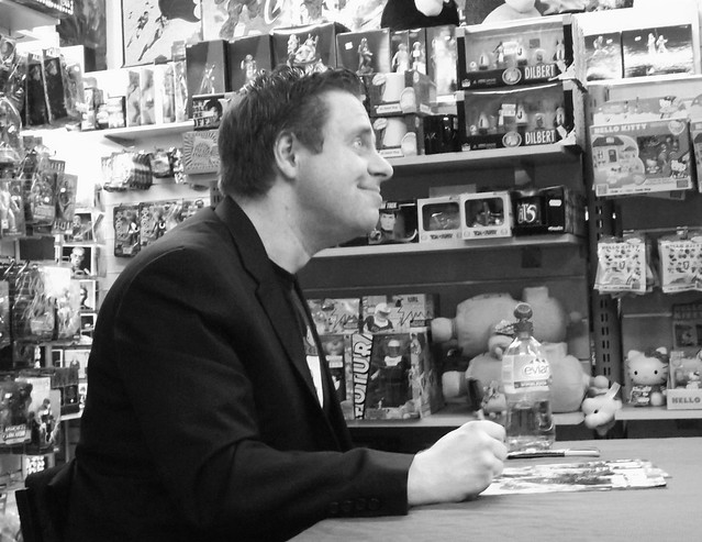 Paul Cornell signing at Forbidden Planet Edinburgh 05
